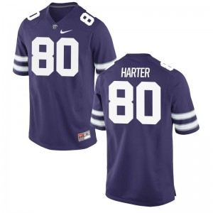 Adam Harter KSU Football Jersey Men Game Purple