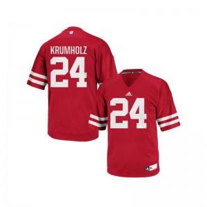 University of Wisconsin Adam Krumholz Authentic Mens Player Jerseys - Red