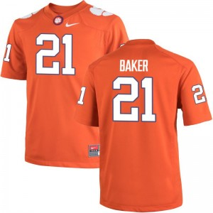 Clemson National Championship Football Jersey of Adrian Baker Orange For Men Game