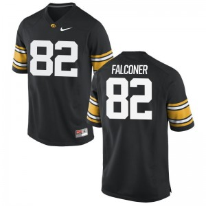 Hawkeyes Adrian Falconer Jerseys Black Game Men Jerseys