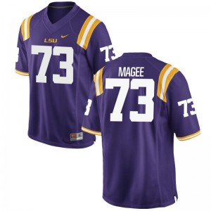 LSU Adrian Magee Jersey For Men Game Purple Jersey