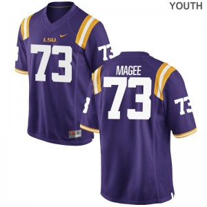 Louisiana State Tigers Adrian Magee High School Jerseys Game Youth Purple