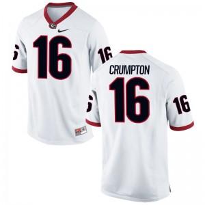 For Men Ahkil Crumpton Jersey NCAA White Limited UGA Bulldogs Jersey