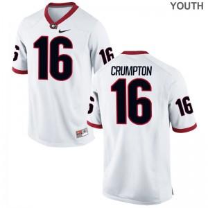 Ahkil Crumpton UGA Bulldogs Jerseys For Kids Limited White
