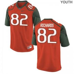 Miami Hurricanes Game Ahmmon Richards Youth(Kids) Orange Jersey