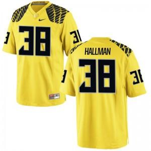 Gold Game Men University of Oregon NCAA Jerseys Alec Hallman