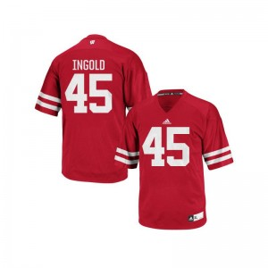 Alec Ingold Wisconsin NCAA Jerseys Red Authentic Mens Jerseys