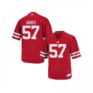 Alec James Wisconsin Badgers Alumni Jerseys Authentic For Men Red