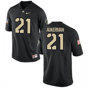 Army Alex Aukerman Jersey Alumni Mens Game Black Jersey