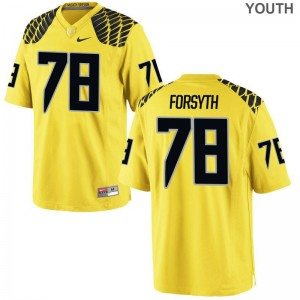 UO Alex Forsyth Football Jerseys For Kids Limited Gold