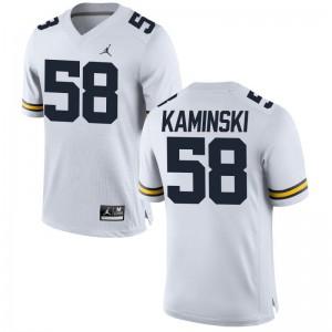 University of Michigan Alex Kaminski Jerseys Jordan White Limited Men Jerseys