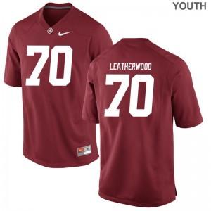 Bama Game Alex Leatherwood Kids Red Jerseys S-XL