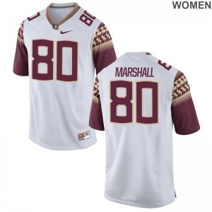 Florida State Game White For Women Alex Marshall Jerseys S-2XL