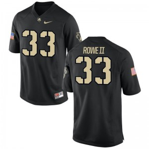 Army Black Knights Alex Rowe II Black Game For Men Player Jerseys