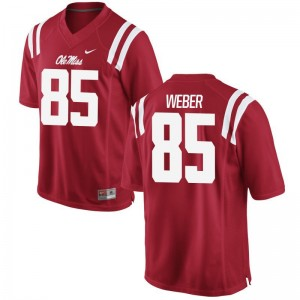 Ole Miss Alex Weber Jerseys Game Red Mens Jerseys