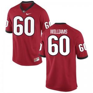Allen Williams For Men Football Jersey Game Georgia Bulldogs - Red