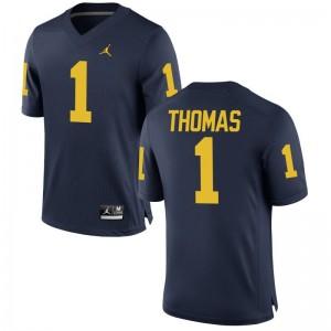 Michigan Wolverines Ambry Thomas Game For Men High School Jerseys - Jordan Navy