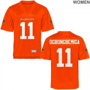 Women Limited OSU Cowboys College Jersey of Amen Ogbongbemiga - Orange