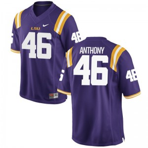 LSU Jersey of Andre Anthony For Men Purple Game