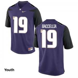 UW Andre Baccellia Kids Game Purple NCAA Jerseys