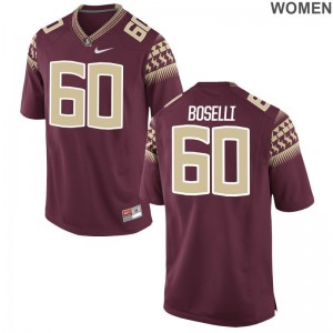 Florida State Seminoles Andrew Boselli Jerseys Women Garnet Game