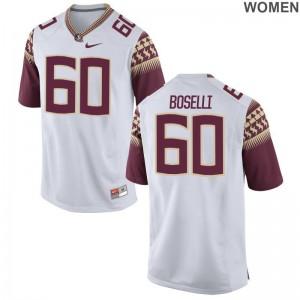 Women Andrew Boselli Jerseys White Limited FSU Seminoles Jerseys