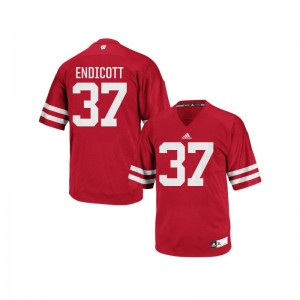 Wisconsin Badgers Andrew Endicott Jersey S-3XL Authentic For Men Red