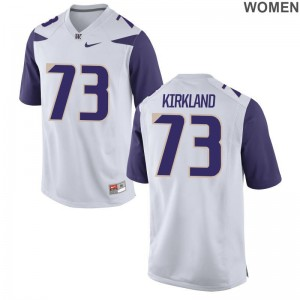Andrew Kirkland UW Huskies Jerseys S-2XL Game Women - White