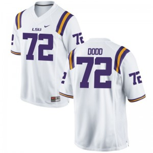 Limited Andy Dodd NCAA Jerseys Men LSU Tigers - White
