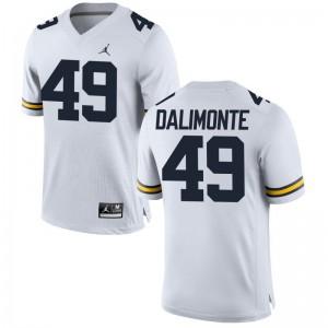 Anthony Dalimonte University of Michigan Jersey Jordan White For Men Game