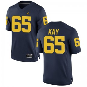 Wolverines Anthony Kay NCAA Jersey Game Jordan Navy For Men