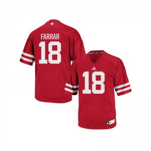 Wisconsin Badgers Arrington Farrar Authentic Men Jerseys - Red