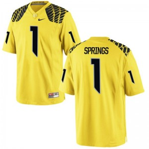 Arrion Springs Jerseys Youth(Kids) Oregon Game Gold