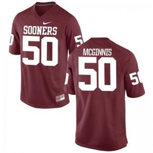 Oklahoma Arthur McGinnis Football Jerseys Game Mens - Crimson