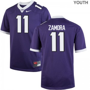 Texas Christian University Jersey S-XL Asaph Zamora Game Youth(Kids) - Purple