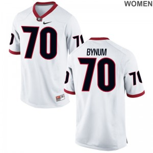 Aulden Bynum Jerseys Women UGA White Limited