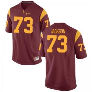 Austin Jackson Mens College Jerseys Game USC Trojans - White