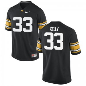 Iowa Austin Kelly Jersey S-3XL Black Mens Game