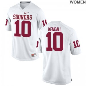 Limited White Ladies OU Sooners High School Jersey Austin Kendall