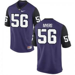 Austin Myers TCU Jersey For Men Limited Purple Black