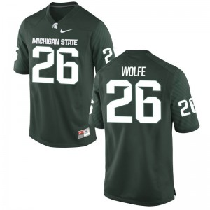 MSU Jersey Austin Wolfe Game Green Mens