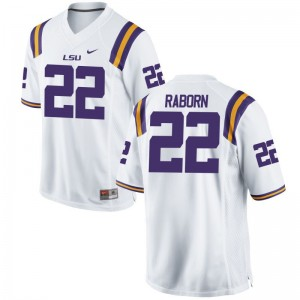 Limited White Bailey Raborn Jerseys S-XL Youth LSU Tigers