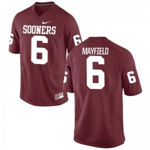 Oklahoma Sooners Baker Mayfield Jerseys Limited Men Jerseys - Crimson