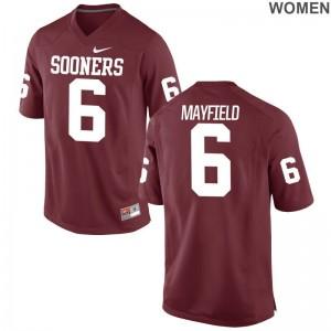 Baker Mayfield Women Jerseys Game Crimson OU