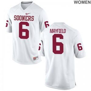 Baker Mayfield Oklahoma High School Jerseys Women Game - White