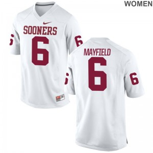 OU Jerseys S-2XL of Baker Mayfield Women Limited - White
