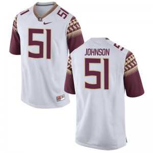 Baveon Johnson FSU Seminoles College Jerseys Limited Men Jerseys - White