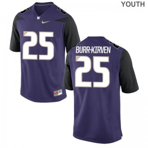 Youth(Kids) Ben Burr-Kirven High School Jersey UW Limited Purple