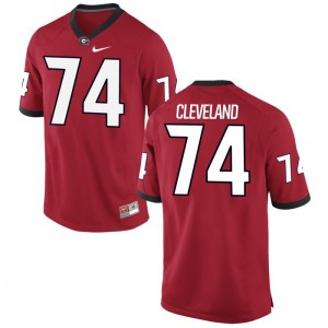 Ben Cleveland Georgia Alumni Jersey Red Mens Limited Jersey