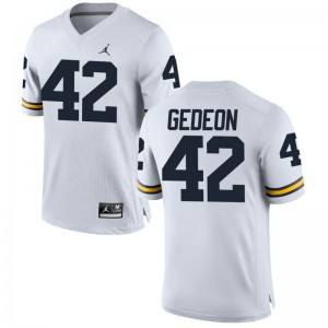 Ben Gedeon Michigan Wolverines Player Jersey Game Jordan White Men